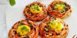 創意早餐,營養雞蛋麵,簡單好做又新穎